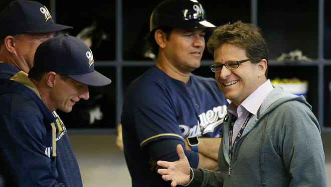 Brewers owner Mark Attanasio said his expectations for this season's club have risen, but the team isn't going to scrap its long-term plan of building the team into a perennial winner.