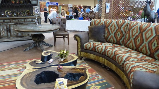 Furniture with a mountain flair and unique designs intrigued the crowd at the home and garden show.