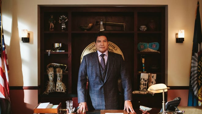 """This image released by Paramount Network shows Gil Birmingham from the series """"Yellowstone"""" premiering Wednesday, June 20."""