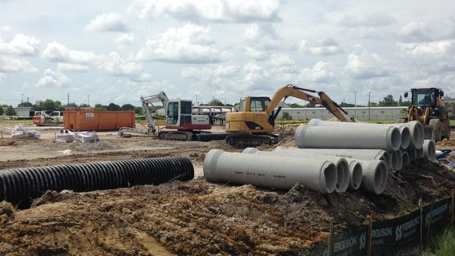 A Crown Linen plant is going up at Hanson Street and Work Drive in Fort Myers.