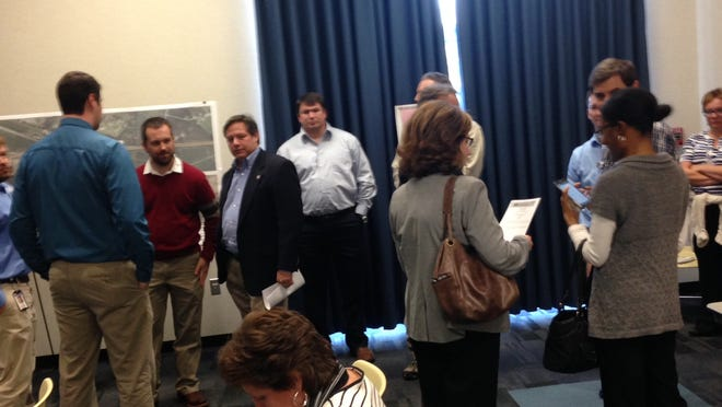 The DOTD held an open house Tuesday to unveil its proposal to widen a portion of Interstate 10.