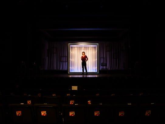 Tony Award nominated actress, Carmen Cusack rehearses