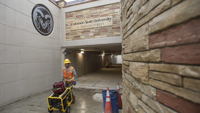 The final stages of construction continue on the underpass of Shields Street at West Elizabeth Street. The $10.8 million project connects Colorado State University with the Campus West area.