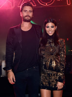 Reality TV stars Scott Disick, left, and Kourtney Kardashian,