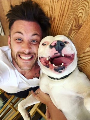 Dan Tillery, pictured with his dog, Diggy
