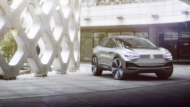 The Volkswagen I.D. Crozz is a crossover electric vehicle concept, first revealed at the Shanghai auto show in 2017.