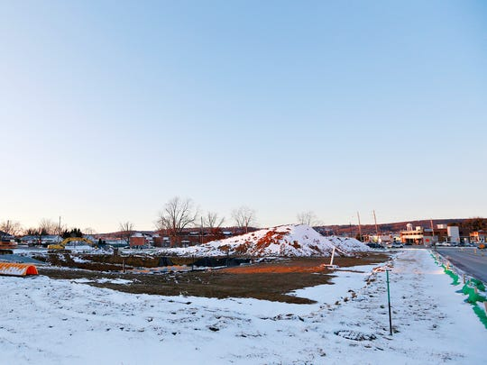 Construction is underway at 2990 Eastern Blvd, with Mills Street at right, in Springettsbury Township, Tuesday, Jan. 30, 2018. Dawn J. Sagert photo