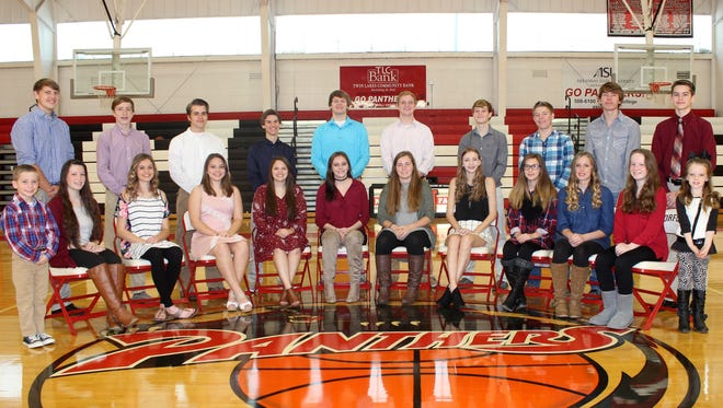 Norfork High School will host its annual Homecoming Game on Friday at Bobby D. Hulse Gymansium when the Panthers play host to Viola. The Homecoming ceremony will begin promptly at 5 p.m. before the games begin at 5:30. Members of the 2016 Homecoming Court are: (first row, from left) Mason Shields, Mesa Beavers, Hannah Bradbury, Sydney Lawhorn, Bryanna McLester, Riley Scalf, Kelcy Acklin, Summer Sisco, Kasady Sutterfield, Macey Cox, Ashton Beavers, Torrance Douglas, (second row) Brock Belding, Jaden McFall, Haston Hurst, Bryson Theil, Travis Lewis, Grant Casey, Brett Sorters, Kyle Crawford, Joshua Holladay and Saul Maple.