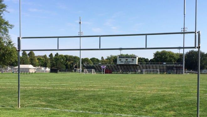 Fisk Park football field next to West High School's field in Green Bay.
