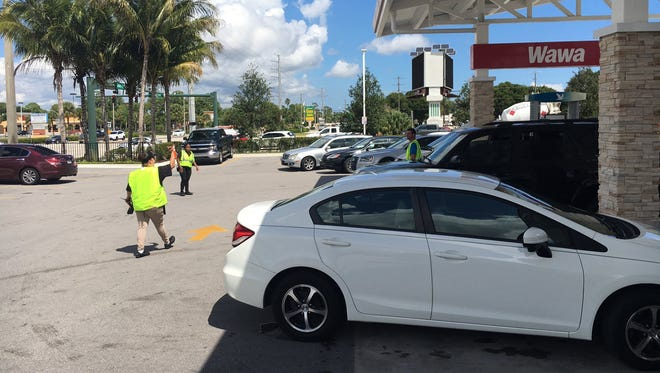The Stuart Wawa on the southeast corner of Kanner Highway and Monterey Road had employees directing drivers to pumps Thursday.