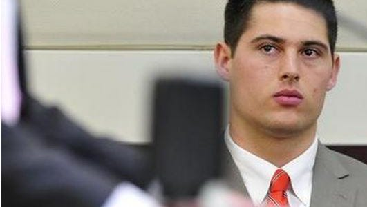 File photo: Brandon Vandenburg, of Indio, listens during the jury selection in this January file photo.