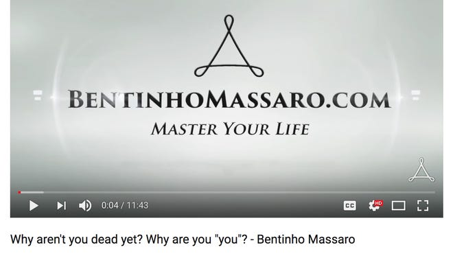 A screenshot of a YouTube video posted to Bentinho Massaro's channel.