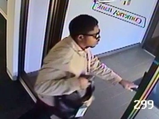 Southfield Police said this man robbed a Comerica bank