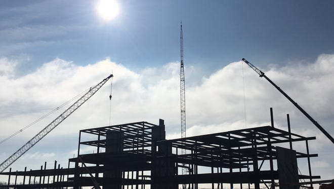 Construction continues on the Avera on Louise campus in southwest Sioux Falls.