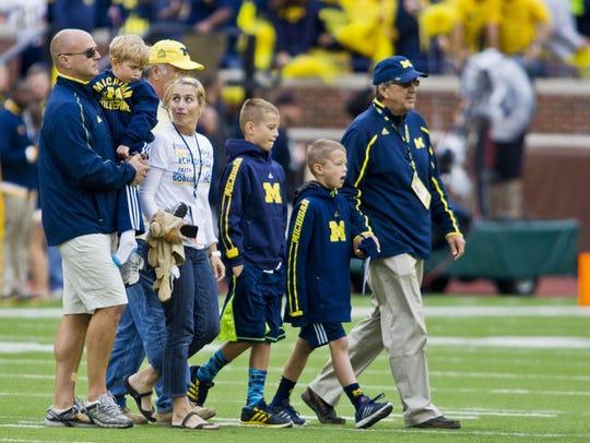 Former University of Michigan football coach Lloyd