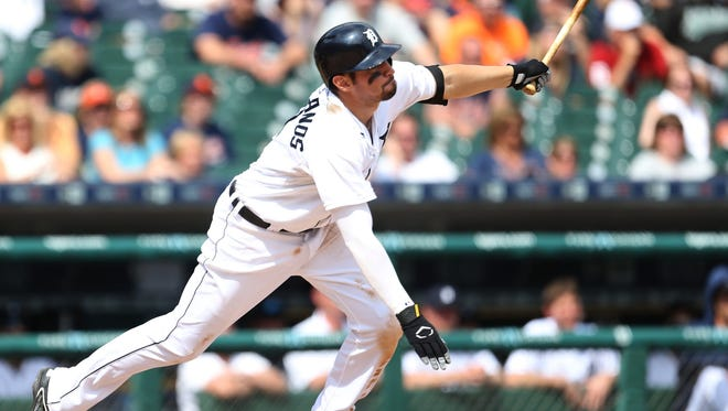 Detroit Tigers third baseman Nick Castellano is batting .224 with 10 doubles, four triples and four home runs with 28 RBIs in 70 games this season.