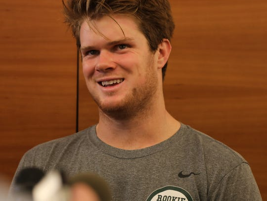 The Jets first round draft pick, quarterback Sam Darnold