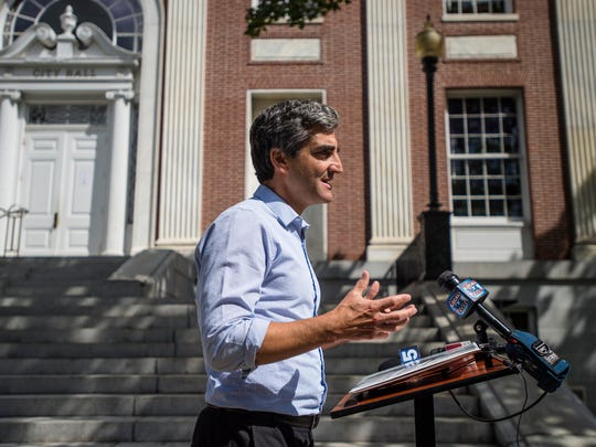 Burlington Mayor Miro Weinberger announces on Friday,