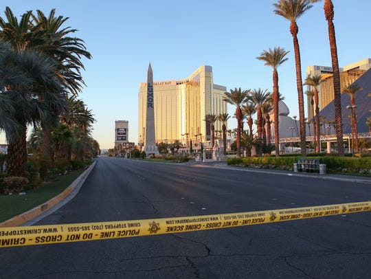 Police tape surrounds the perimeter as authorities