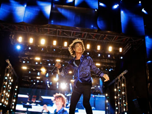 Mick Jagger, of the British band Rolling Stones