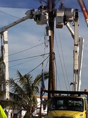 On Sept. 1, Guam Power Authority crews were in Saipan working to restore power services following Typhoon Soudelor.