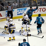 Predators forward Colin Wilson has five goals in the playoffs after scoring six during the regular season.
