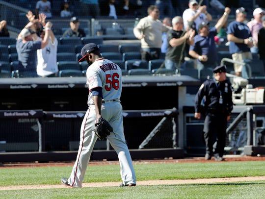 Minnesota Twins relief pitcher Fernando Rodney (56)