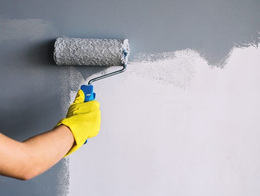 Painting wall in gray