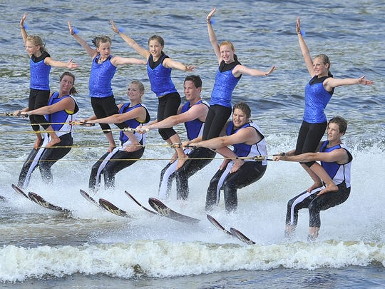 The Wisconsin Rapids Aqua Skiers host the annual Wisconsin