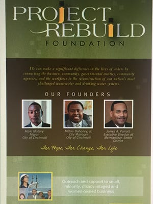 A screenshot from the MSD website of a Project Rebuild Foundation promotional poster.