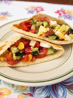 Israeli Salad Sandwich