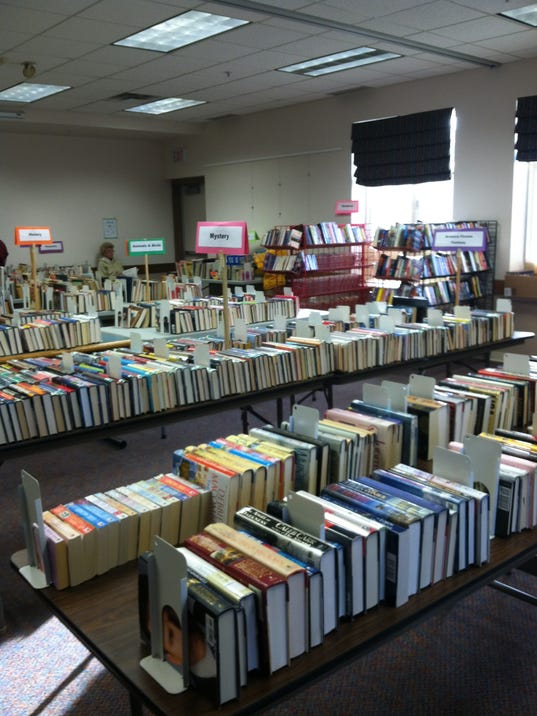 The spring 2012 book sale. photo by Caurie Putnam