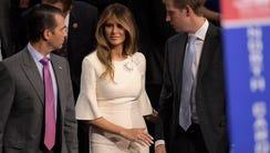 Donald Trump Jr. , Melania Trump and Eric Trump take