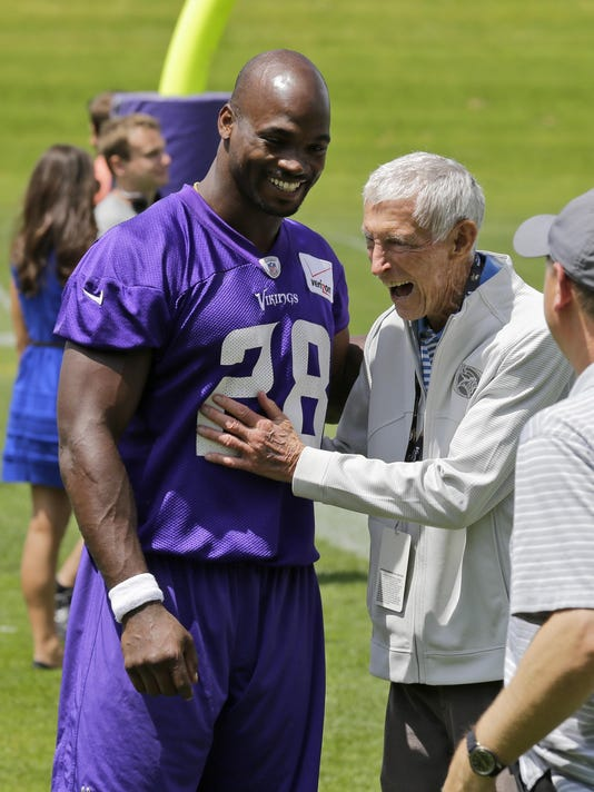 Adrian Peterson, Jerry Burns