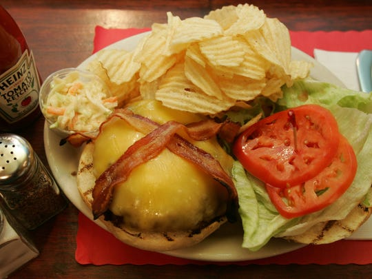 A bacon cheeseburger at Frankie's Bar and Grill in Point Pleasant Beach.