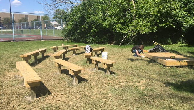 Conner High School has implemented its first outdoor classroom, designed and implemented by the school's Earth Club. An outdoor classroom is an outdoor educational facility that can be developed into an educational arena.