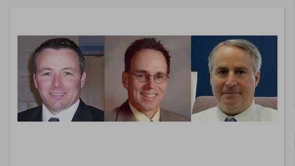 Jeffrey R. Rabey, superintendent of superintendent of the Depew school district, Martin D. Cox of the Sodus school district and Douglas Adams, superintendent of Ramapo Central School District, are finalists for the Clarkstown schools chief position.