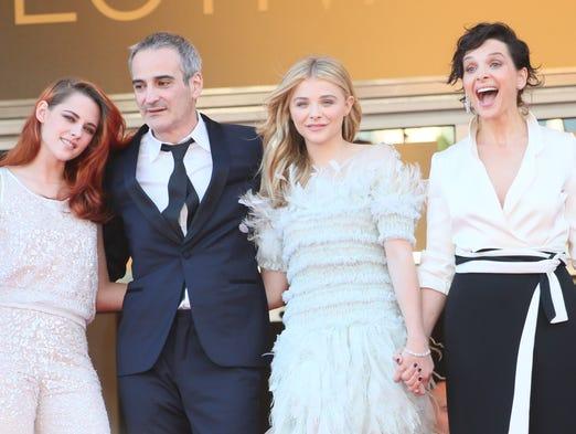 Kristen Stewart, Juliette Binoche, Chloe Grace Moretz and director Olivier Assayas  starred in Cannes' best red carpet -- the 'Clouds of Sils Maria' premiere on Friday night.
