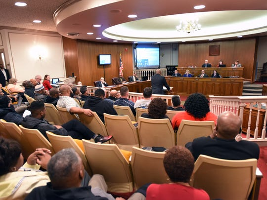Numerous citizens attending Dover City council's meeting
