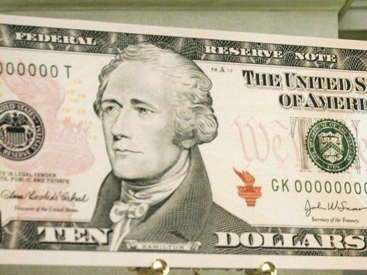 Newly-Designed Ten-Dollar Bill Goes Into Circulation