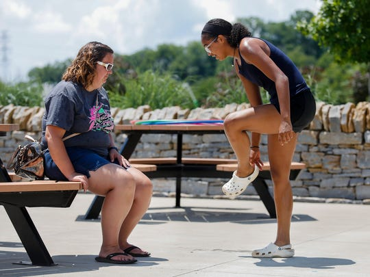 """Serena """"Mac"""" Williams with her mom Andrea Witten at Broadrun Park on Tuesday, July 3, 2018."""