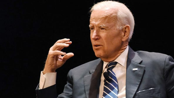 Joe Biden is interviewed by sports writer, television