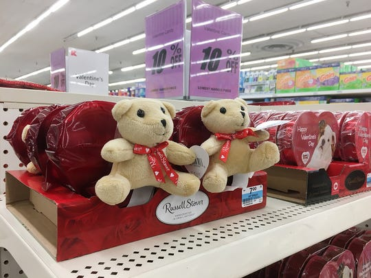 Valentines Day stock is on the floor at Kmart.