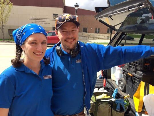 Jayne and Caleb Ryder, owners of Clean Sweep Real Estate