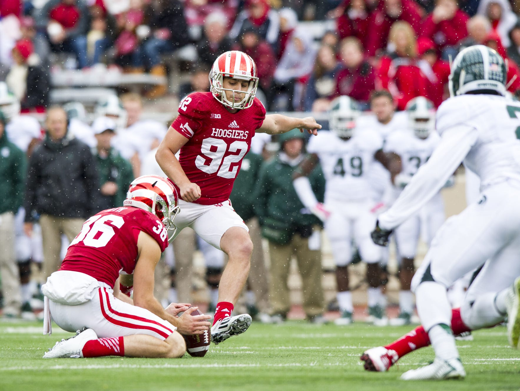 Indiana's Griffin Oakes (92)