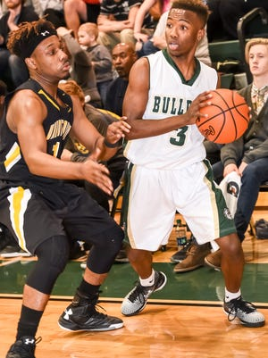 Zay Ballenger (3) scored 20 points in Berea's second-round playoff win against Union County on Friday night.
