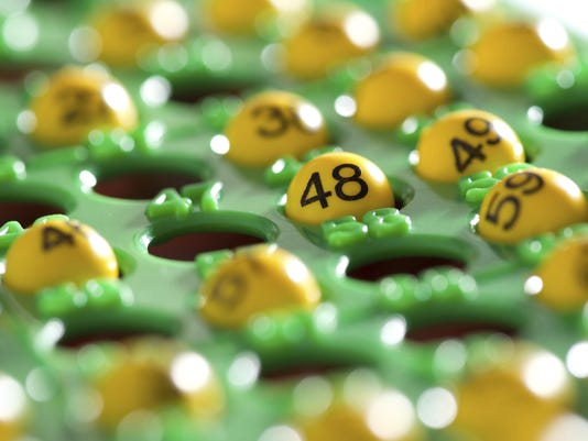 Bingo balls with numbers