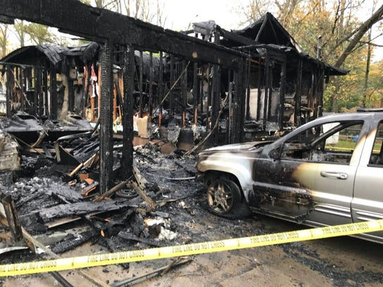 A house fire early this morning injured five people,