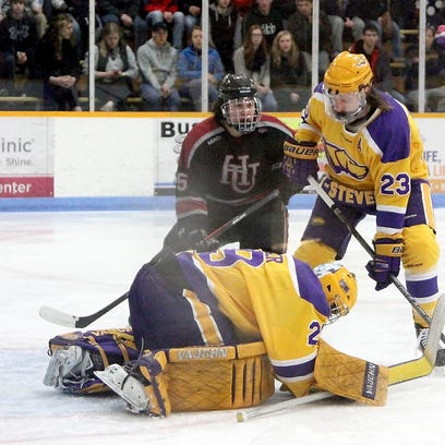 University of Wisconsin-Stevens Point goalie Brandon Jaeger has re-written the record books this season while helping the Pointers reach the Division III national semifinal for the second straight season.