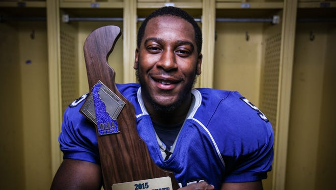 Howard senior running back Gerald Wiggins rushed 20 times for 94 yards as Howard defeated St. Georges 28-13 in the DIAA Division II championship game last Saturday night at Delaware Stadium.